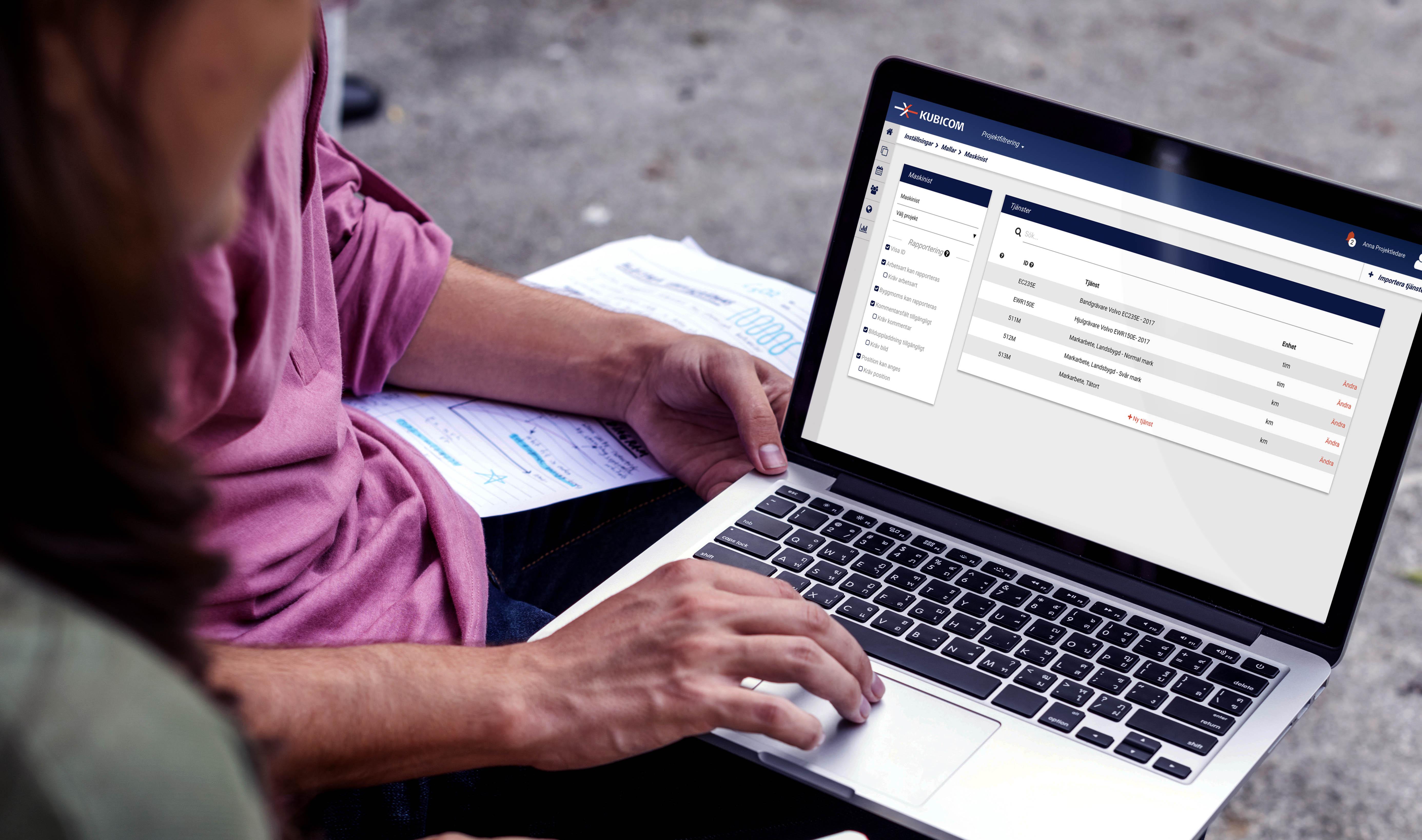 Anpassningsbara rapporteringsfält möjliggör hantering av alla typer av uppdrag